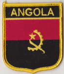 Angola Embroidered Flag Patch, style 07.